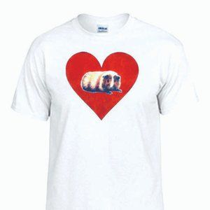 New Guinea Pig Heart Unisex T shirt, Pet, Cavy